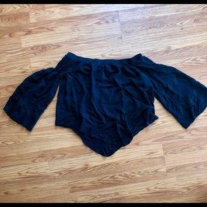 Xhilaration off shoulder peasant blouse large